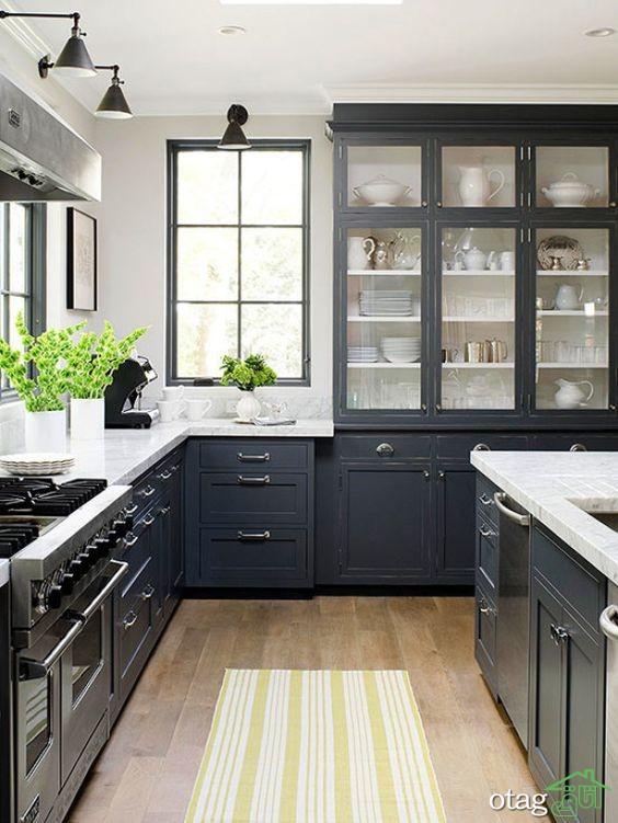 مدل کابینت آشپزخانه کلاسیک شیک (8)