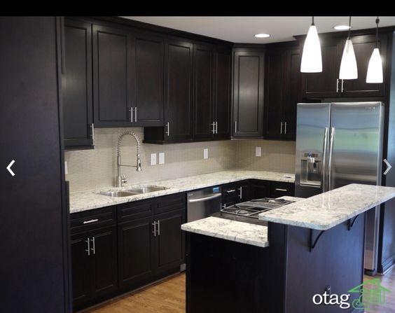 مدل کابینت آشپزخانه کلاسیک شیک (9)