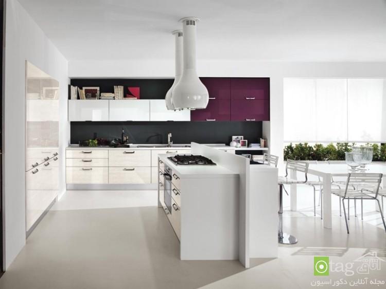 مدل کابینت های گلاس آشپزخانه شیک و مدرن (1)