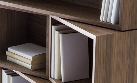 مدل کتابخانه خانگی کوچک دیواری و ایستاده مناسب اتاق نشیمن
