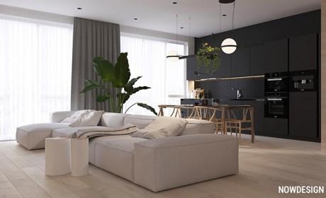 معماری داخلی منزل به شیوه ای مدرن و مینیمال با متریال چوبی