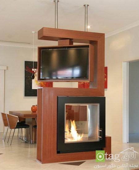 میز تلویزیون چوبی شیک (10)