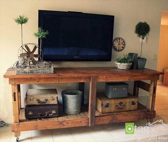 میز تلویزیون چوبی شیک (2)
