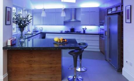 نور مخفی کابینت آشپزخانه با نوار ال ایی دی / 30 عکس جدید