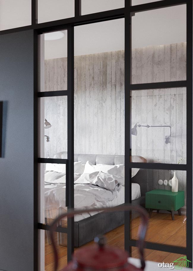 پلان آپارتمان یک خوابه 96 متری با چیدمان داخلی بسیار زیبا