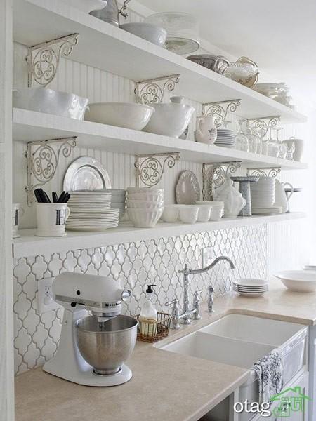 چیدمان آشپزخانه با شلف (1)
