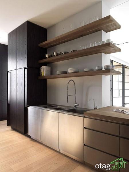 چیدمان آشپزخانه با شلف (3)