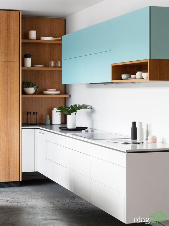 چیدمان آشپزخانه با شلف (4)