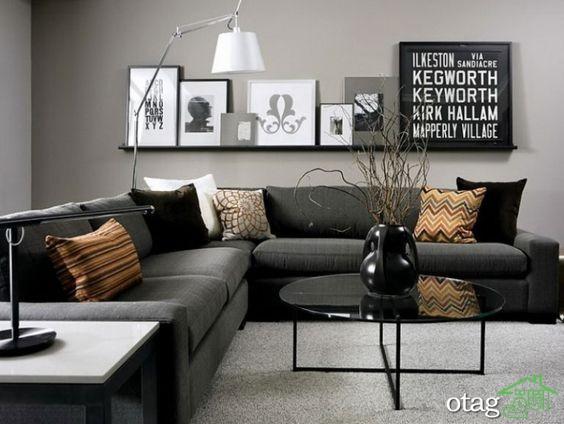 چیدمان دکوراسیون اتاق پذیرایی آپارتمان (1)