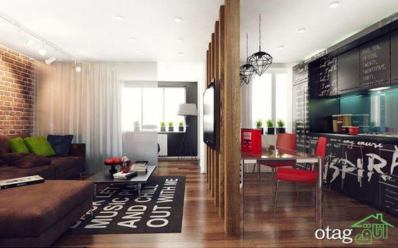 چیدمان دکوراسیون اتاق پذیرایی آپارتمان (3)