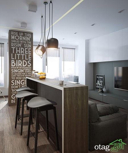 چیدمان دکوراسیون اتاق پذیرایی آپارتمان (5)