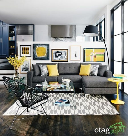 چیدمان دکوراسیون اتاق پذیرایی آپارتمان (6)
