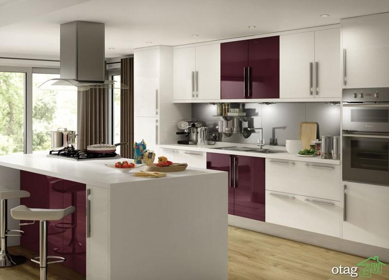 کابینت آشپزخانه بنفش رنگ شیک (9)