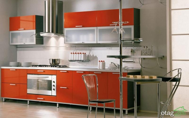 کابینت آشپزخانه قرمز رنگ (10)