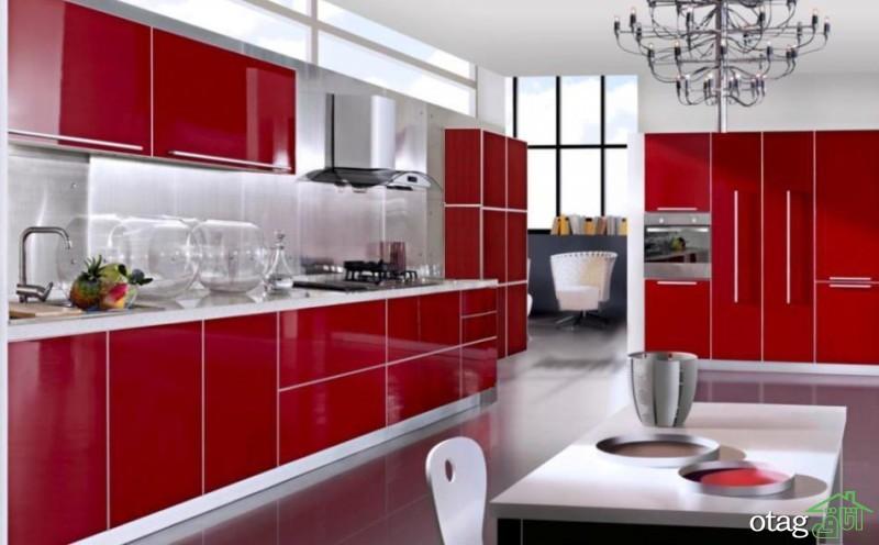کابینت آشپزخانه قرمز رنگ (11)
