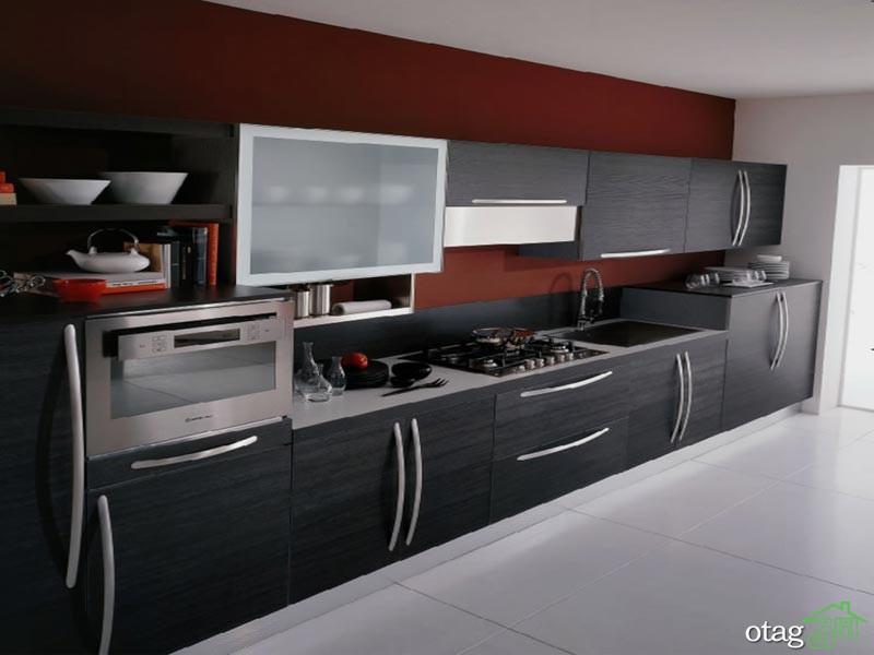 کابینت آشپزخانه مشکی شیک (10)