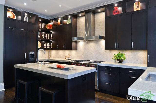 کابینت آشپزخانه مشکی شیک (11)