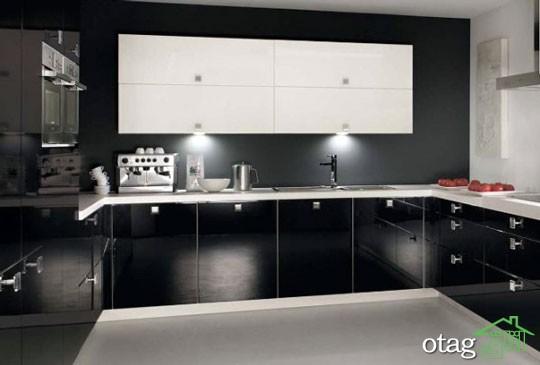 کابینت آشپزخانه مشکی شیک (14)
