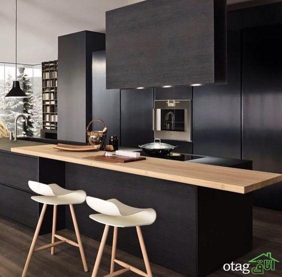 کابینت آشپزخانه مشکی شیک (16)
