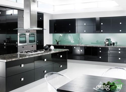 کابینت آشپزخانه مشکی شیک (2)
