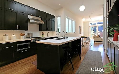 کابینت آشپزخانه مشکی شیک (4)