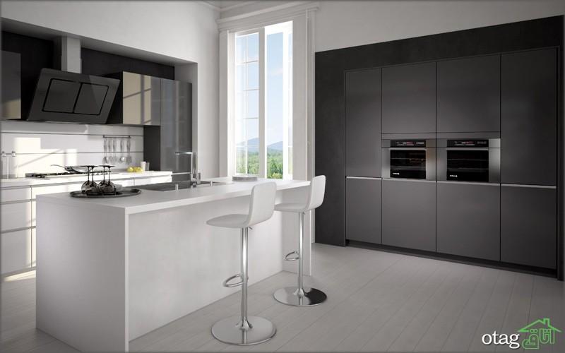 کابینت آشپزخانه مشکی شیک (5)