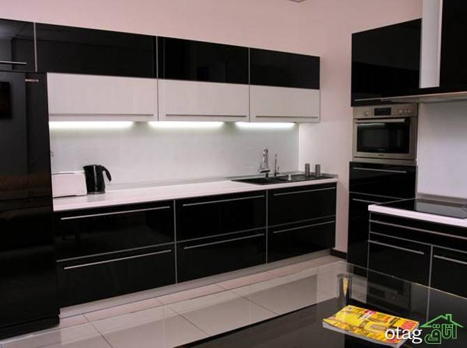 کابینت آشپزخانه مشکی شیک (6)