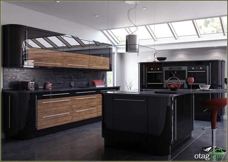 کابینت آشپزخانه مشکی شیک (8)