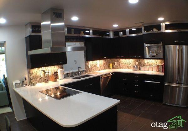 کابینت آشپزخانه مشکی شیک (9)