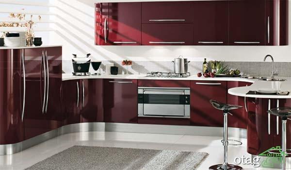 کابینت آشپزخانه های گلاس جدید (11)