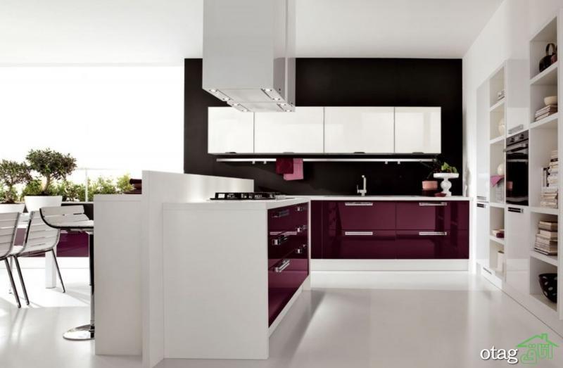 کابینت آشپزخانه های گلاس جدید (13)