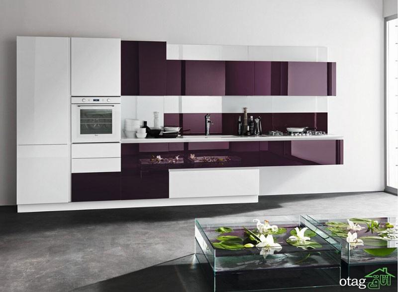 کابینت آشپزخانه های گلاس جدید (14)