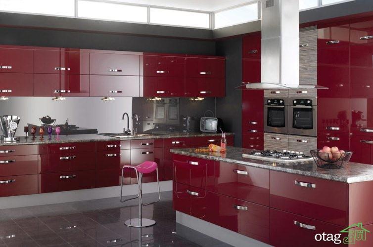 کابینت آشپزخانه های گلاس جدید (15)