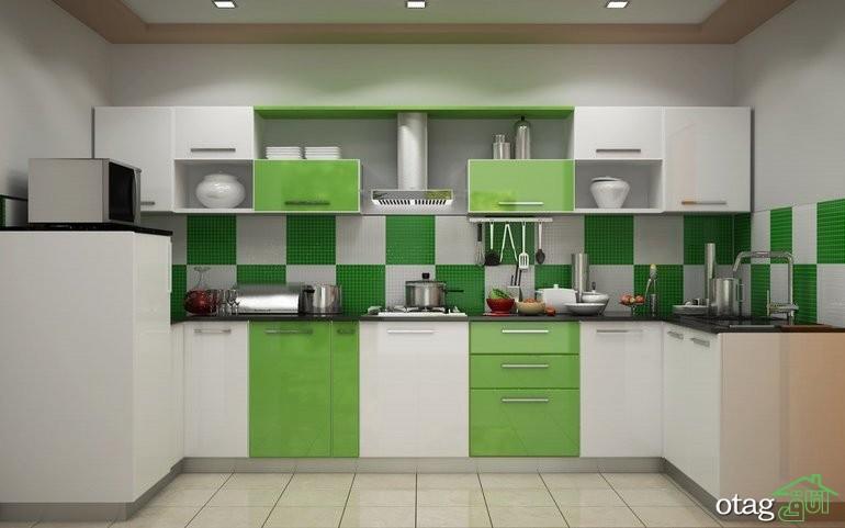 کابینت آشپزخانه های گلاس جدید (18)