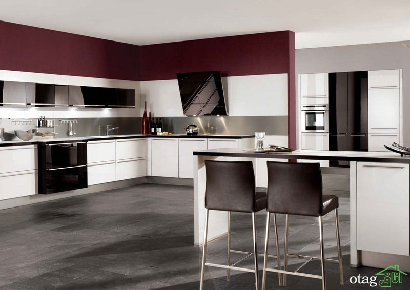 کابینت آشپزخانه های گلاس جدید (19)