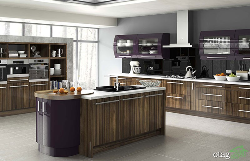کابینت آشپزخانه های گلاس جدید (3)