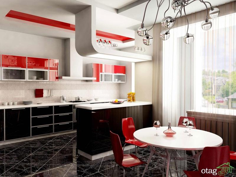 کابینت آشپزخانه های گلاس جدید (5)