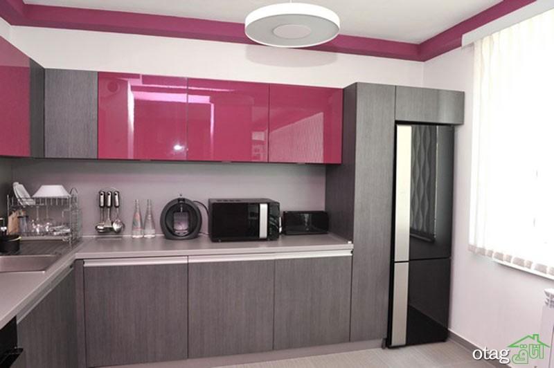 کابینت آشپزخانه های گلاس جدید (6)