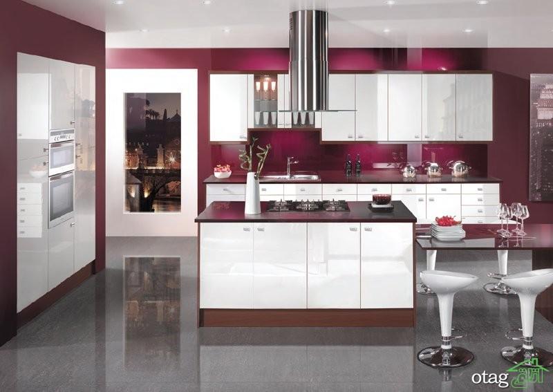 کابینت آشپزخانه های گلاس جدید (8)