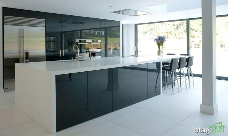 کابینت آشپزخانه های گلاس جدید (9)