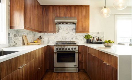 مدل کابینت تمام چوب در آشپزخانه های مدرن و کلاسیک