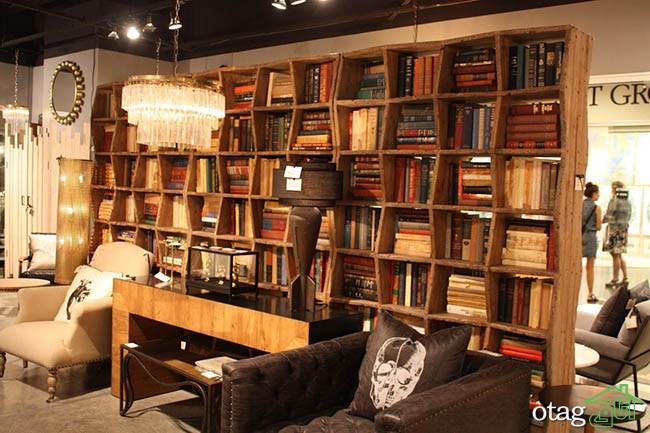 کتابخانه-چوبی-ساده (9)