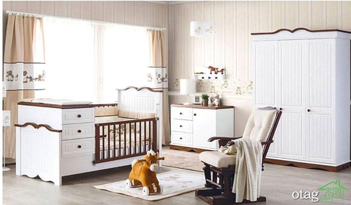 30 مدل پرفروش سرویس خواب نوزاد و کودک، تخت و کمد