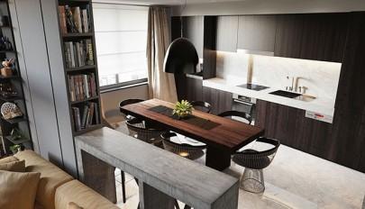 دکوراسیون آپارتمان صد متری با طراحی الهام گرفته شده از هتل