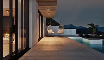 آشنایی با معماری ویلای هزار متری در مجاورت دریاچه کوهستانی