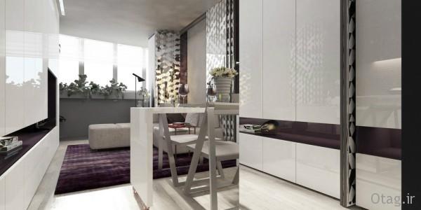نحوه طراحی داخلی و چیدمان آپارتمان کوچک 20 متری [ 6 طرح جدید ]