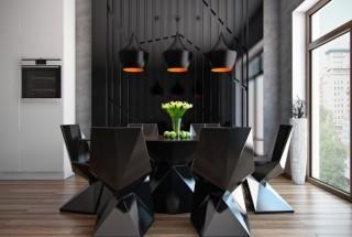 طرح های مدرن اتاق غذاخوری و میز ناهارخوری با پلان باز