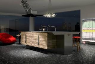طراحی داخلی و دکوراسیون آشپزخانه مدرن و ساده ژاپنی