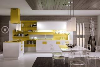 دکوراسیون آشپزخانه مدرن و ساده ایتالیایی / عکس