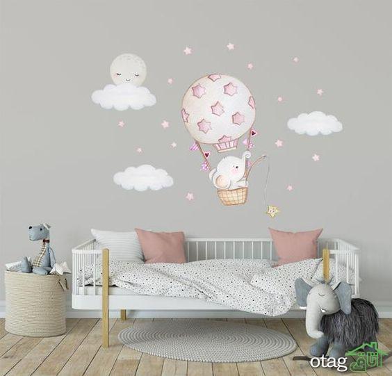 انواع مدل استیکر اتاق کودک و برچسب دیواری اتاق کودکان